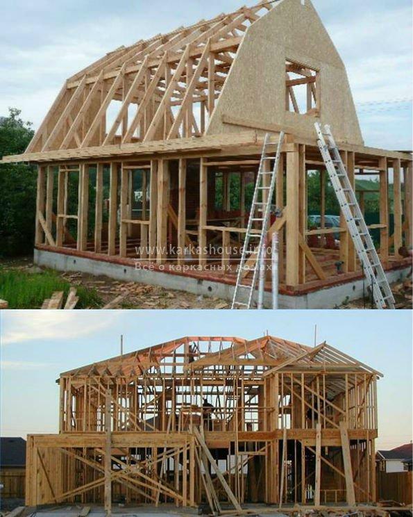 каркасный дом своими руками, строительство