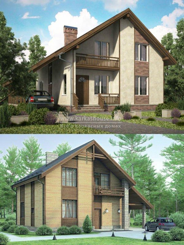 каркасный дом своими руками, фото