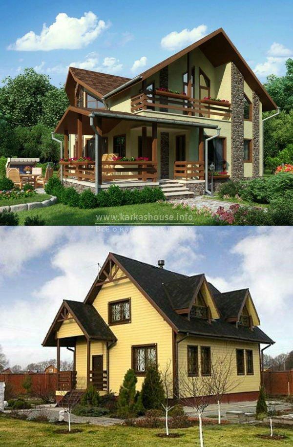 каркасный дом под ключ, строительство