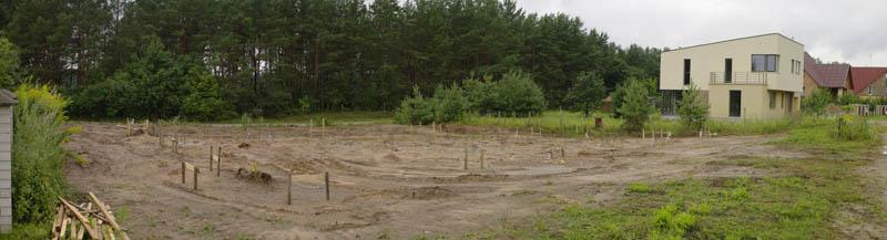 свайное поле фундамента под каркасный дом