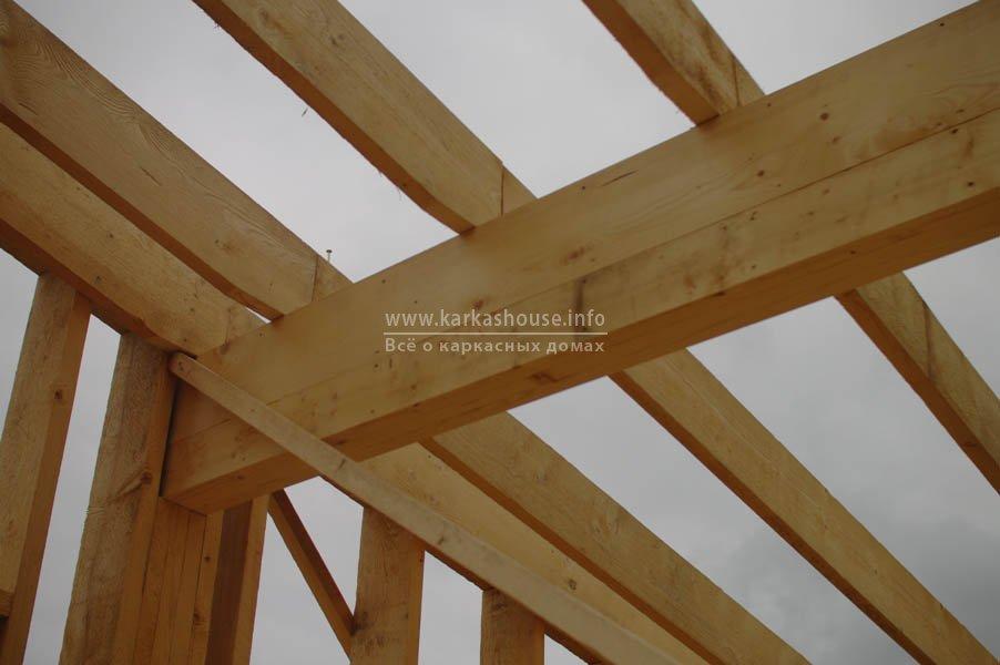 Крепление стропил к деревянной балке собственного производства