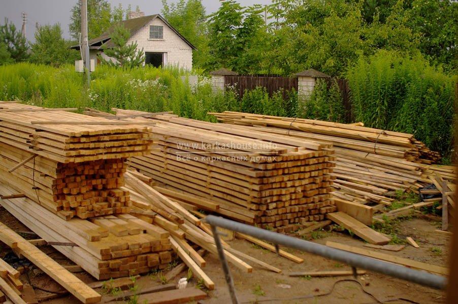 Бруски 25 × 50, 50 × 50, 35 × 50 для стен и прогонов крыши