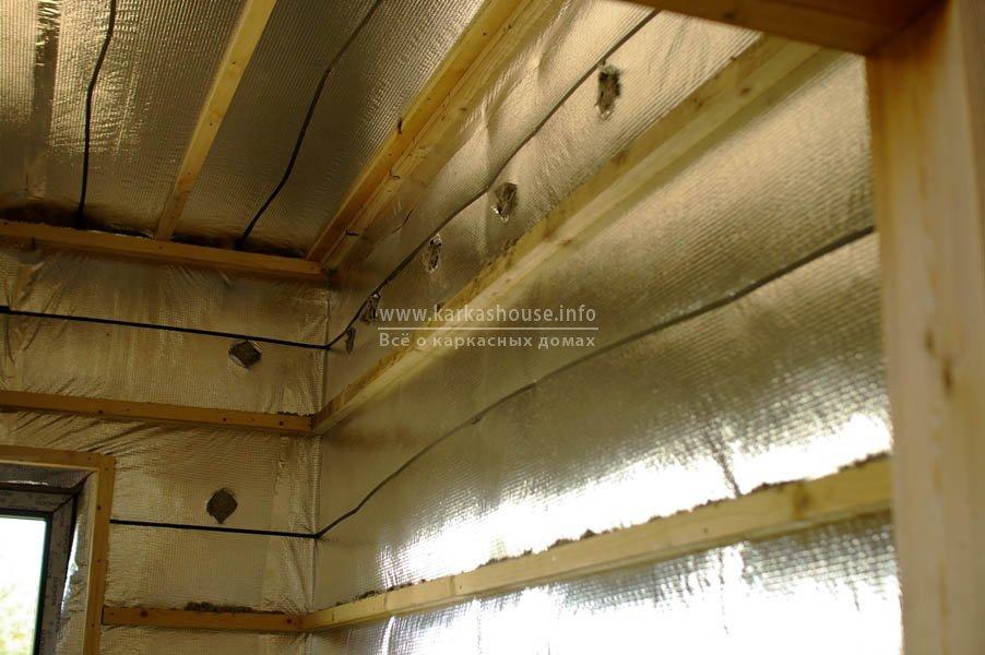 Стены, утепленные эковатой Thermofloc
