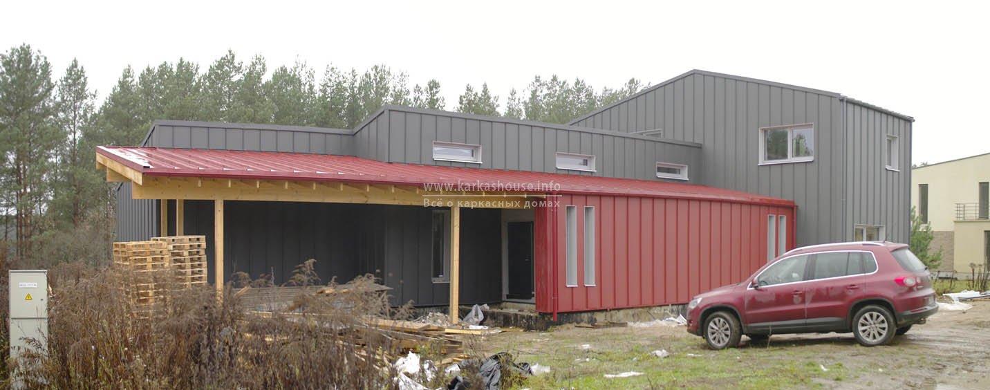 Облицовка фасада дома и крыши