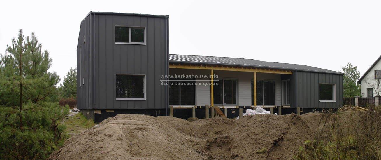 Фасад и отделка крыши по окончанию монтажных работ