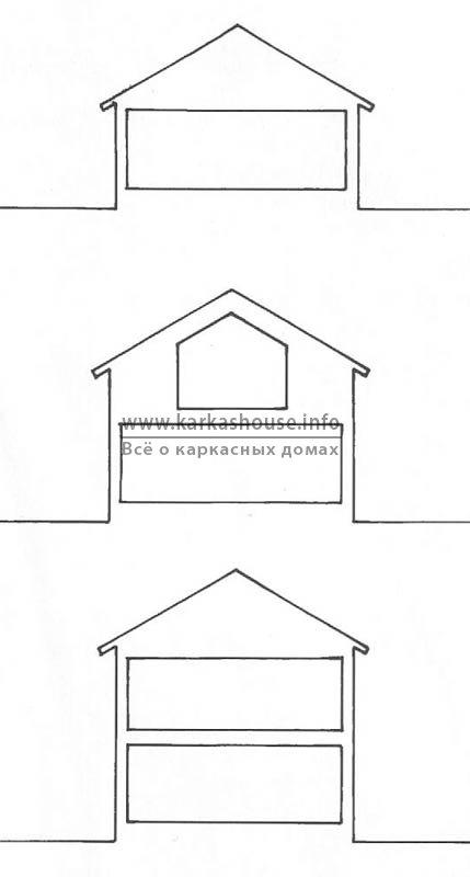 Одно-, полутора и двухэтажный дом.