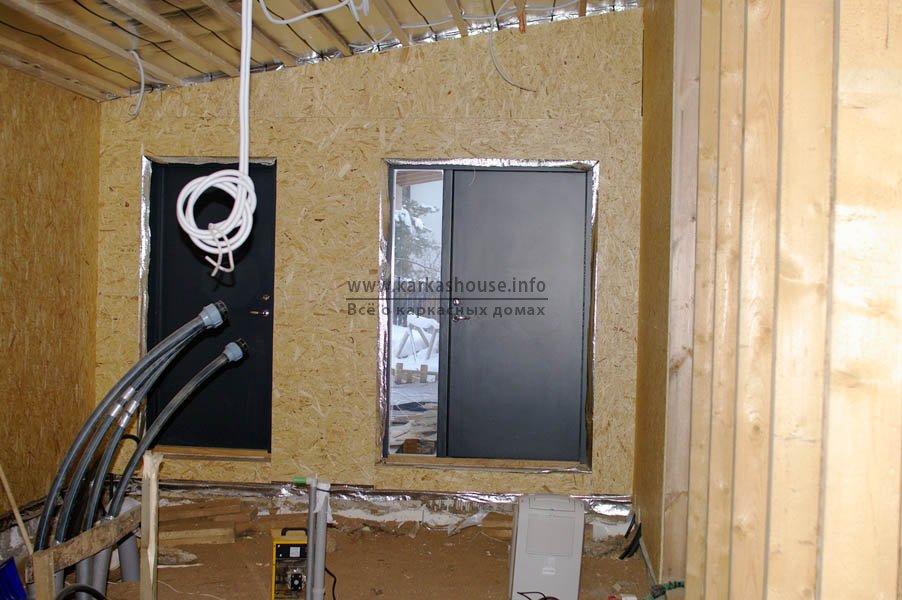 Зашивка стен OSB на 2-м этаже