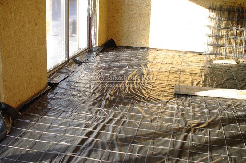 армирование стяжки 1-го этажа