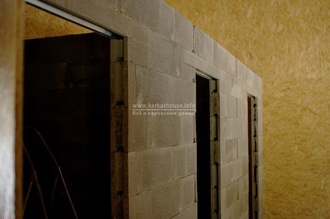 Стена из пазогребневых блоков