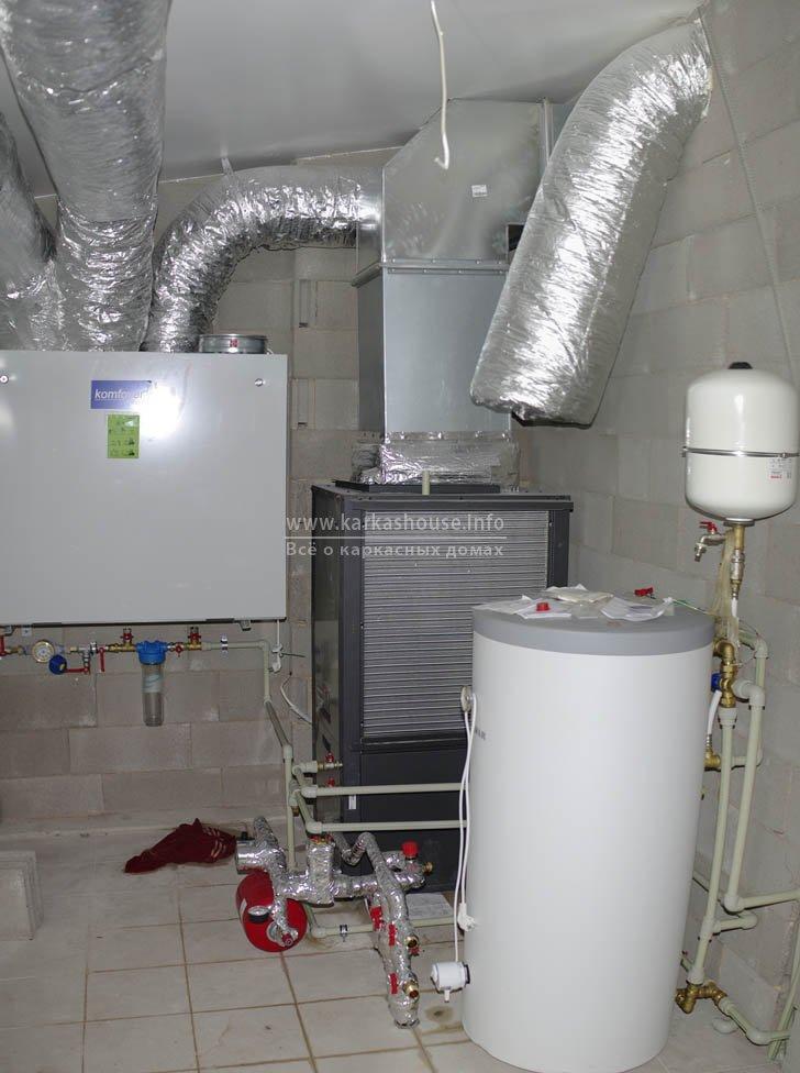 схема отопления частного дома