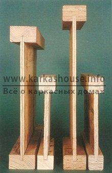 Балки деревянные двутавровые
