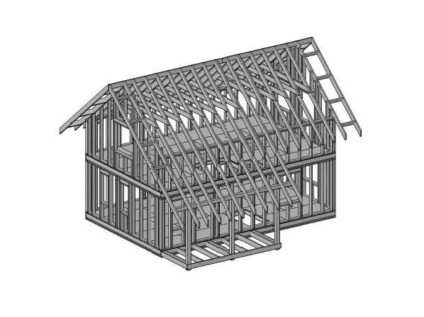 каркасный дом 6х9 проект
