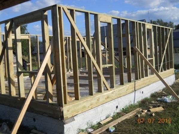 Как самому построить каркасный дом своими руками цены