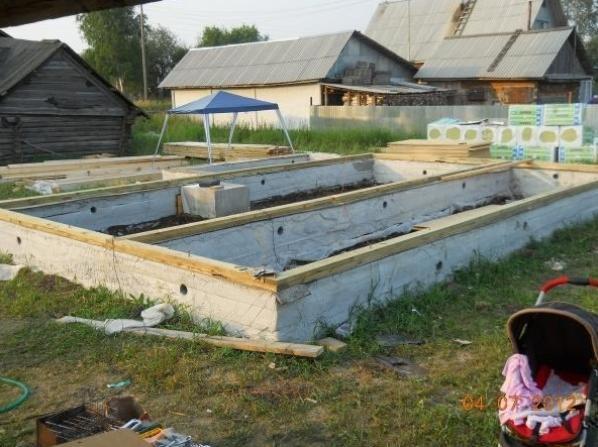 фундамент каркасного дома 6х9
