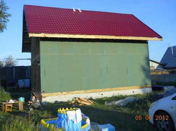 установка ветрозащиты каркасного дома