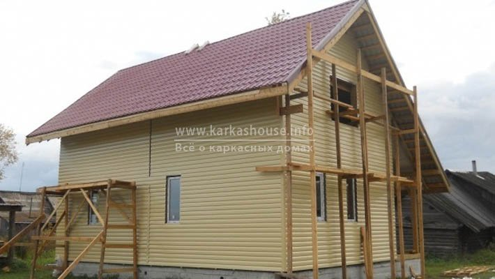 Строительство каркасного дома 6х9 своими руками, фото отчет