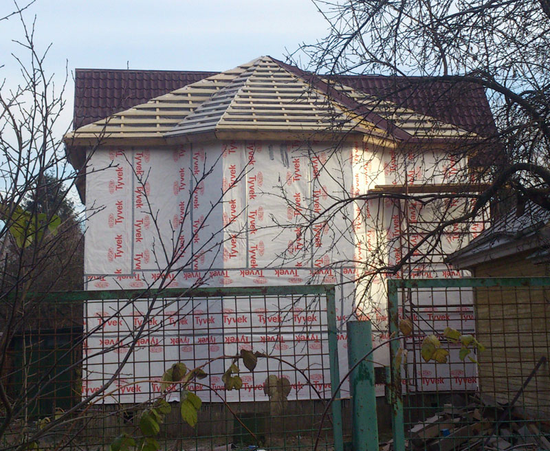 Кровля каркасного дома