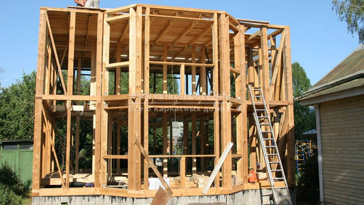 Строительство каркасного дома из бруса своими руками. Фото отчет