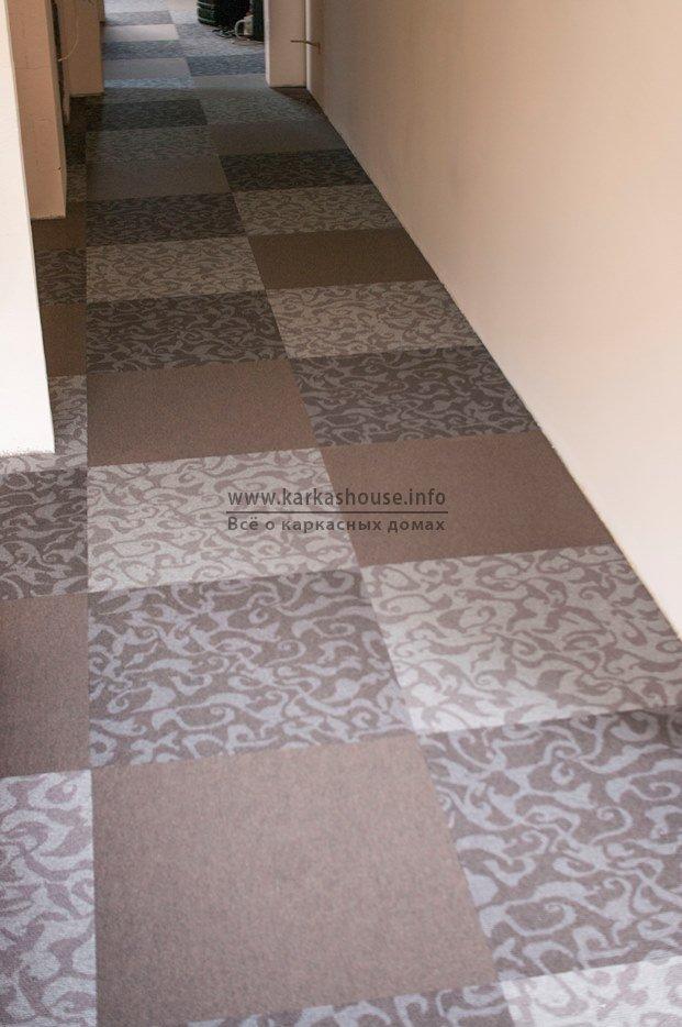ковровое покрытие плитками