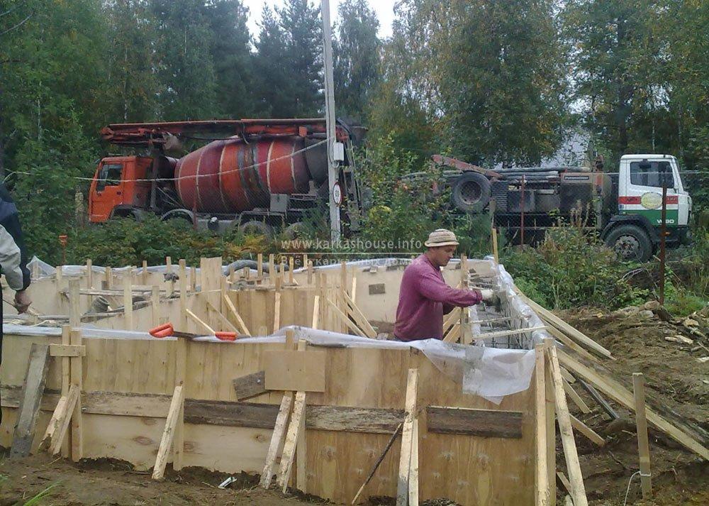 разбивка фундамента каркасного дома 6х8