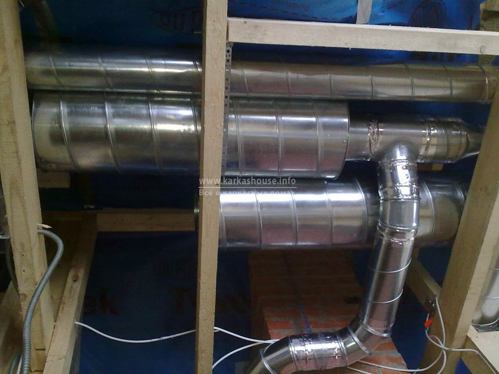 Монтаж вентиляции в каркасном доме. Рекупиратор