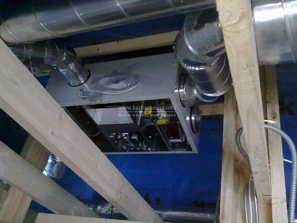 Монтаж вентиляции в каркасном доме. Воздуховоды