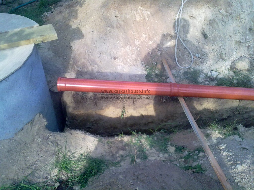 прокладка труб канализации для частного дома