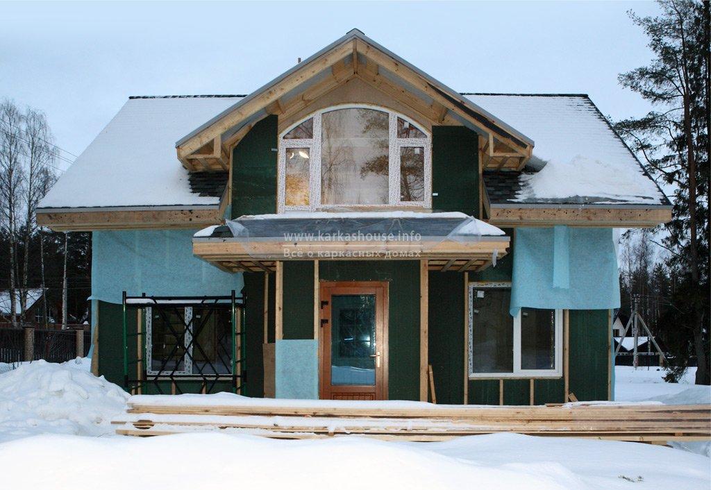Строительство одноэтажного каркасного дома 6х8. Фото отчет
