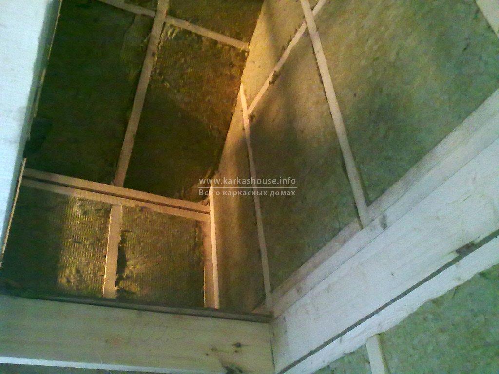 Утепление каркасного дома 6х8