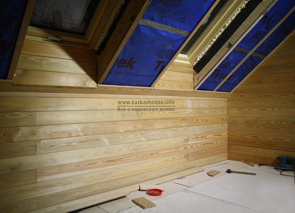Внутренняя отделка каркасного дома с мансардой