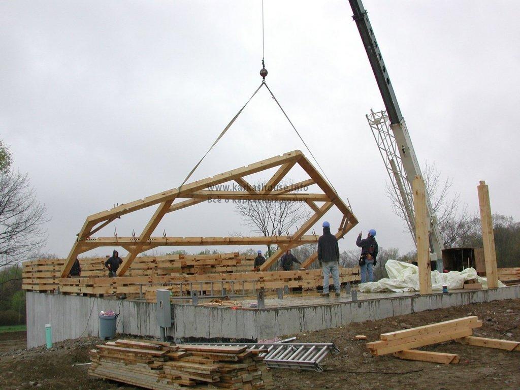 Каркасная технология Timber Frame