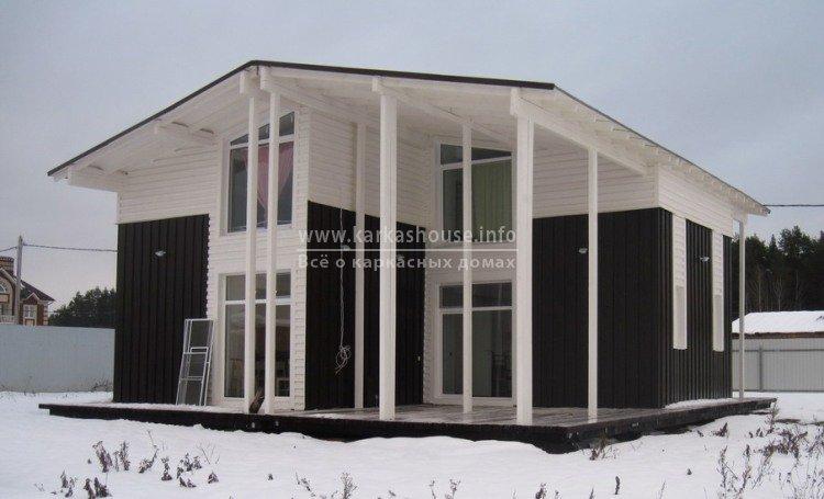 Зимний недорогой каркасный дом