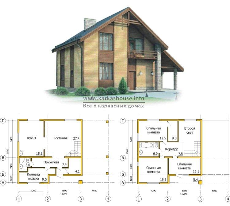 Недорогие каркасные дома проекты