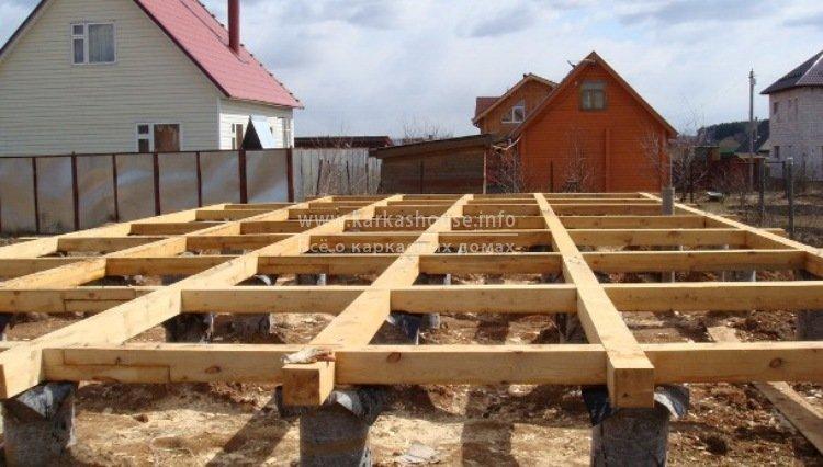 Свайный фундамент при строительстве каркасного дома для постоянного проживания