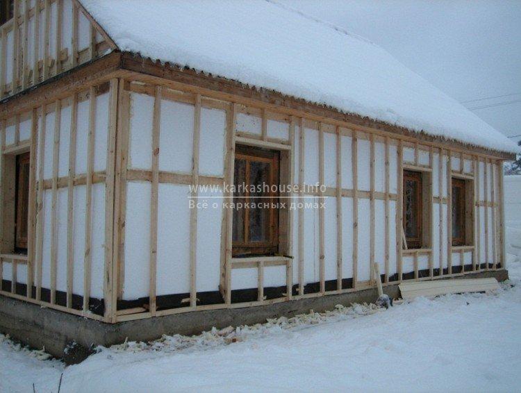 Толщина утеплителя в каркасном доме для постоянного проживания