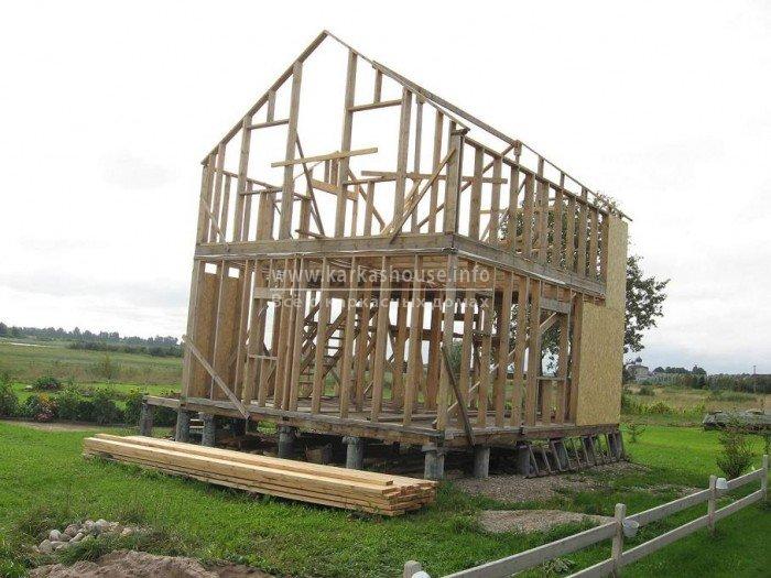 Как построить дом каркасный своими руками фото
