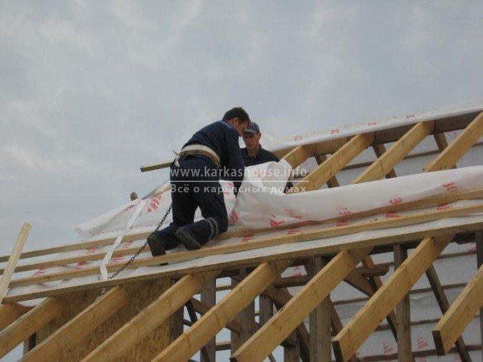 Как построить крышу дома своими руками фото