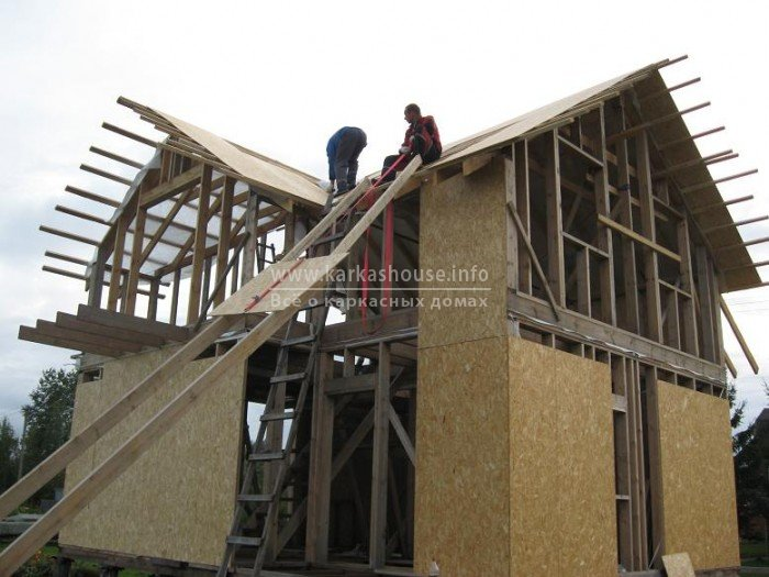 Как построить крышу дома своими руками картинка