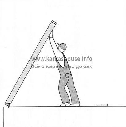 Подъем каркаса для стеновых панелей