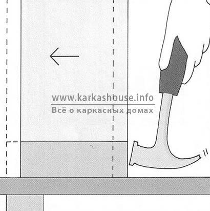 Передвижение каркаса для стеновых панелей