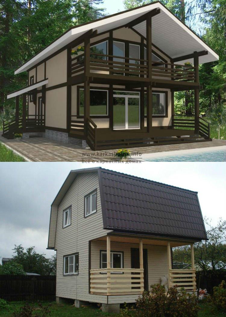Каркасно щитовые дома для дачи недорого