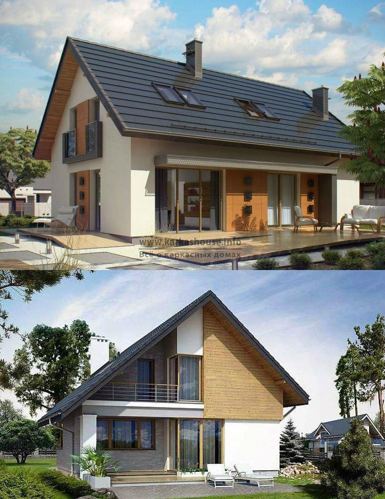 Каркасные дома с мансардой проекты