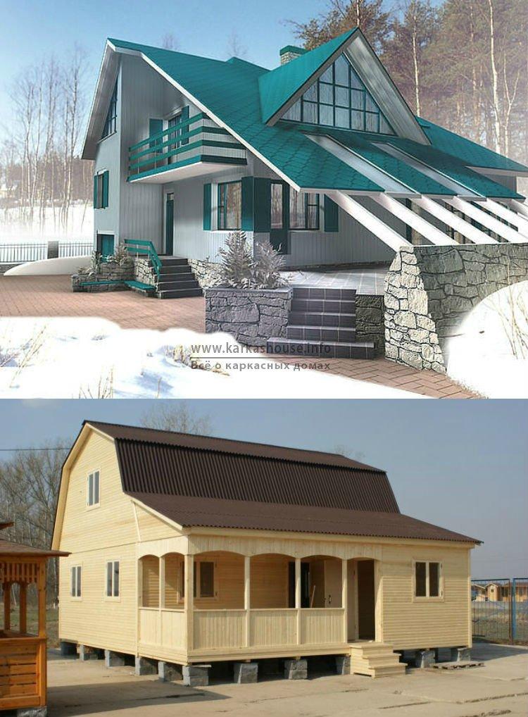 Каркасно щитовые дома с мансардой
