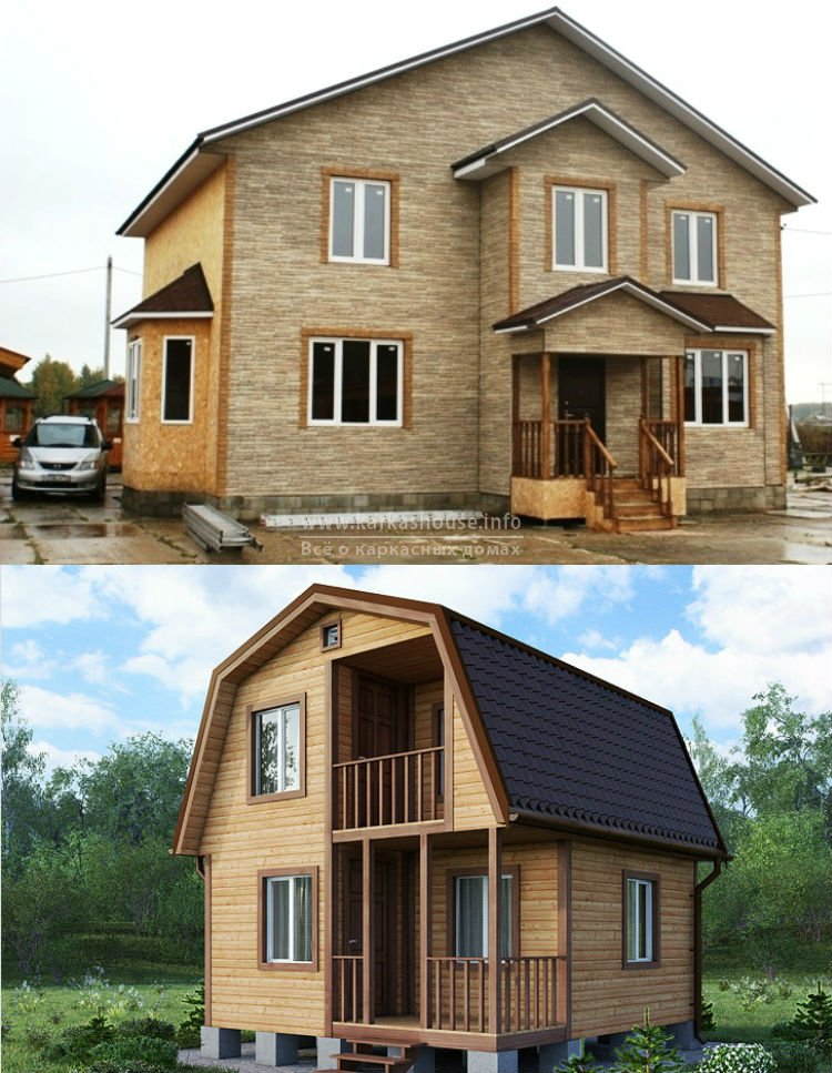 Каркасно щитовой дом под ключ недорого