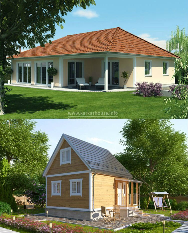 Одноэтажные каркасно щитовые дома под ключ недорого