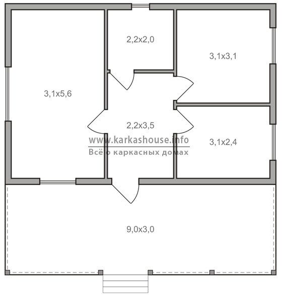 Каркасно-щитовые одноэтажные дома
