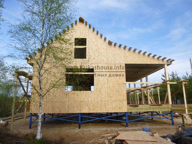 Дом дачный каркасно-щитовой одноэтажный