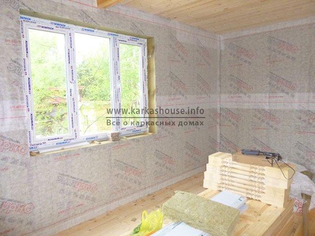 Дом дачный каркасно-щитовой 4х6 одноэтажный