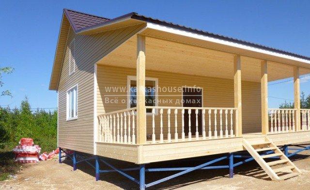 Строительство одноэтажных каркасно-щитовых домов фото