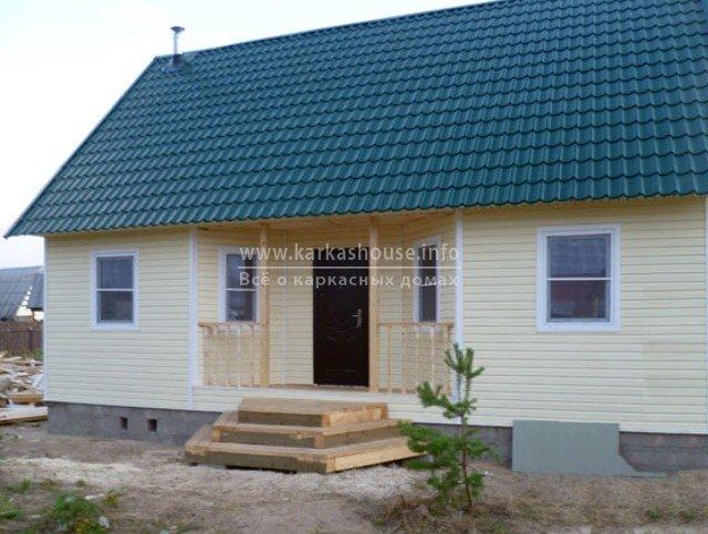 Одноэтажный каркасный дом под ключ недорого